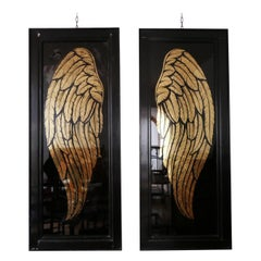 Pair of Large Angel Wings Framed Artwork