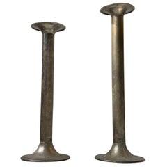 Pair of Large Antique Church Candlesticks, 19th Century, Denmark