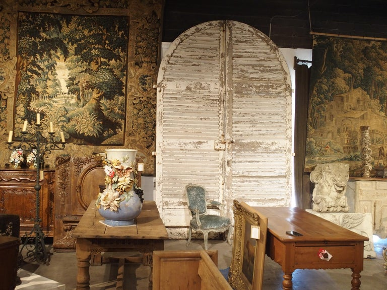 Pair of Large Antique French Door Shutters from a Chateau, 19th Century For Sale 6