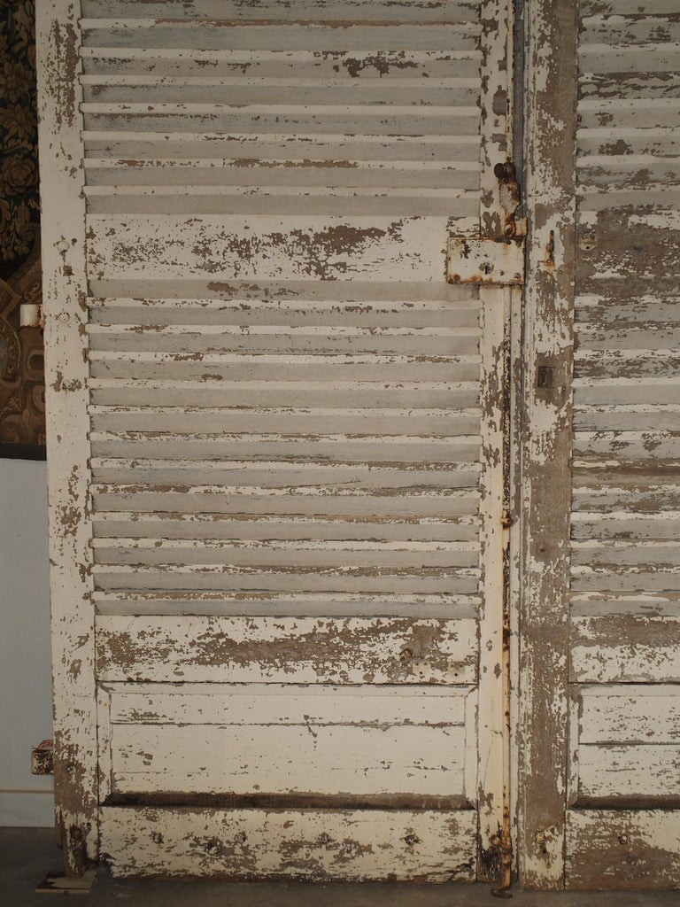 Pair of Large Antique French Door Shutters from a Chateau, 19th Century For Sale 11