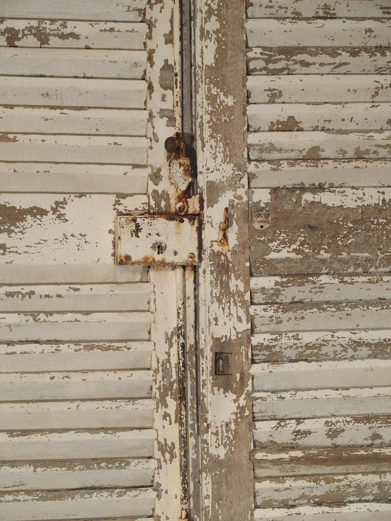 Pair of Large Antique French Door Shutters from a Chateau, 19th Century In Good Condition For Sale In Dallas, TX