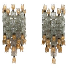 Pair of Large Appliques Murano Designed by Barovier & Toso, 1950
