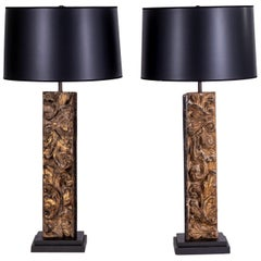 Pair of Large Architectural Fragment Lamps
