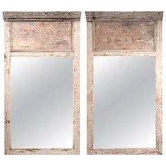 Pair of Large Architectural Paneled Mirrors