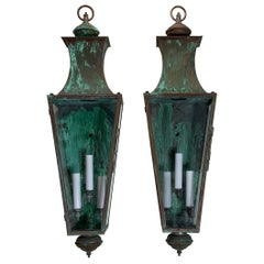 Pair of Large Architectural Wall Lantern