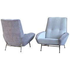 Pair of Large Armchairs by Guy Besnard, France, 1960