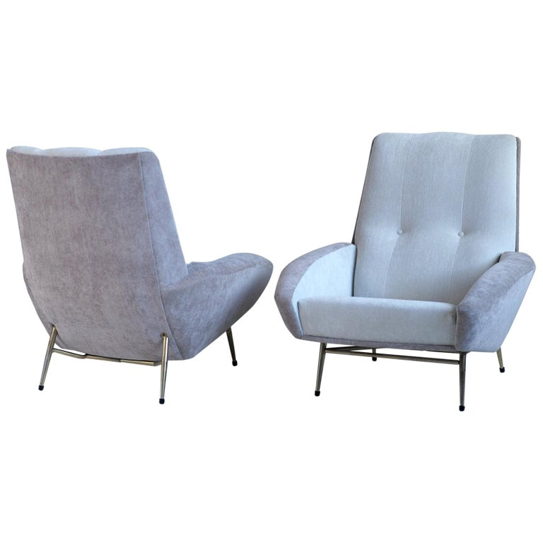 Guy Besnard pair of  armchairs, 1960, offered by Pierre Magne Galerie