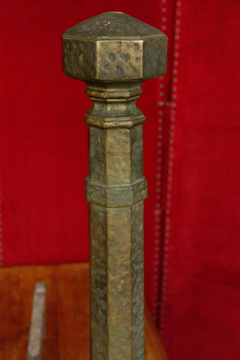 Early 20th Century Pair of Large Art Deco Andirons For Sale