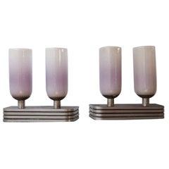 Pair of Large Art Deco Belgium Table Lamps
