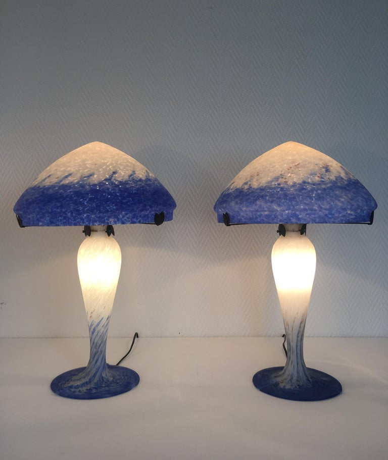 Pair of Large Art Deco Table Lamps by Art de France In Good Condition For Sale In Schagen, NL