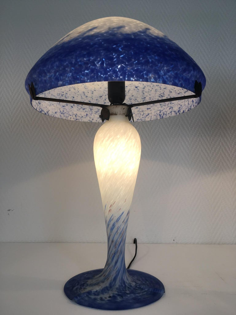 20th Century Pair of Large Art Deco Table Lamps by Art de France For Sale
