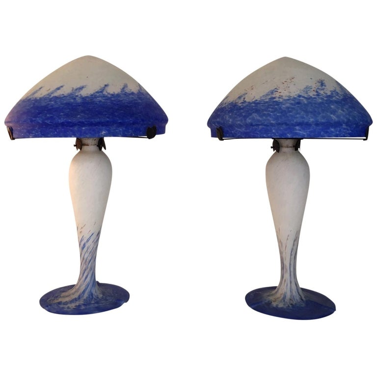 Pair of Large Art Deco Table Lamps by Art de France For Sale