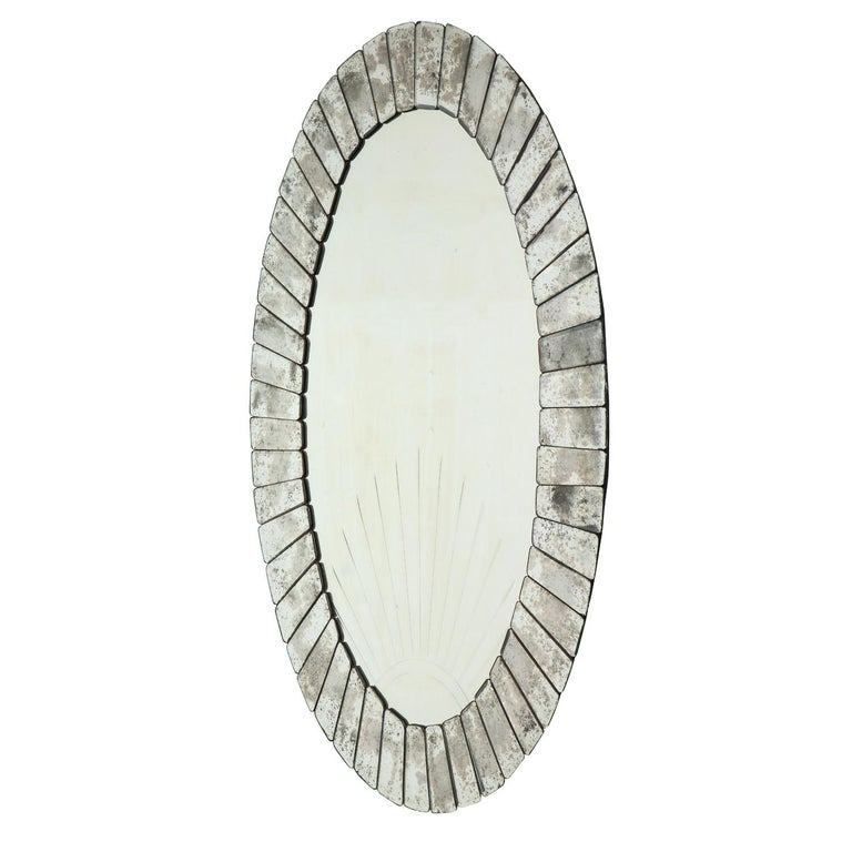 Hand-Crafted Pair of Large Artisan Venetian Art Deco Sunset Mirrors, 1930s
