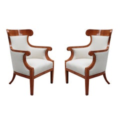 Pair of Large Biedermeier Armchairs