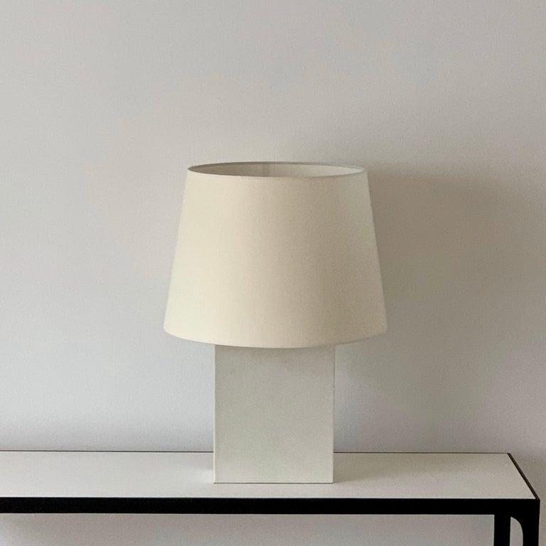 Art Deco Large 'Bloc' Parchment Table Lamp by Design Frères For Sale