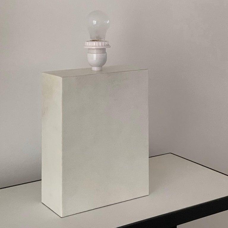 Appliqué Large 'Bloc' Parchment Table Lamp by Design Frères For Sale