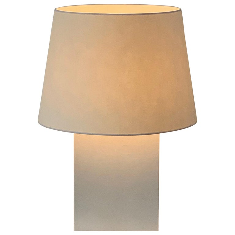 Pair of Large 'Bloc' Parchment Table Lamps by Design Frères For Sale