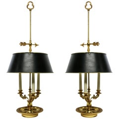 Pair of Large Bouillotte Lamps