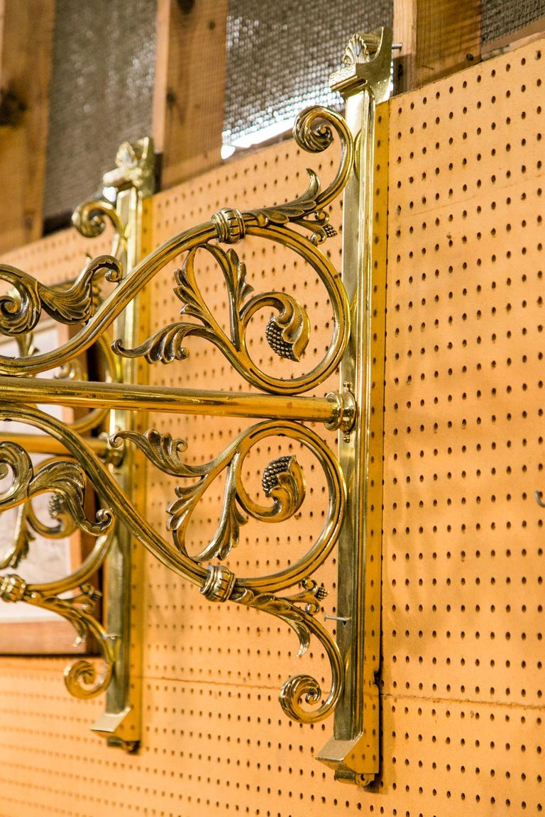 English Pair of Large Brass Wall Sconces For Sale