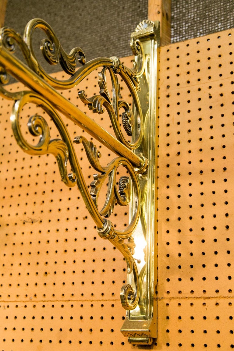 Pair of Large Brass Wall Sconces In Good Condition For Sale In Wilson, NC