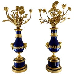 A pair of important large Candelabra, Late 18th Century