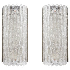 Pair of Large Carl Fagerlund Orrefors Wall Lights