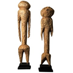 Pair of Large Carved Moba Tchitchiri Sculptural Figures, Togo, circa 1930