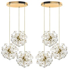 Pair of Large Cascade Light Fixtures in the Style of Emil Stejnar