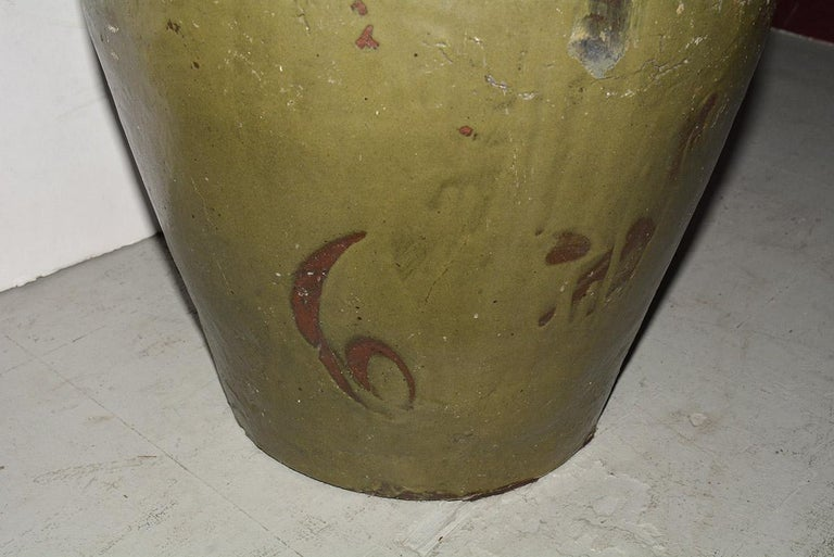 Pair of Large Chinese Storage Wine Jar Lamp Bases For Sale 1