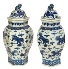 Pair of Large Chinese Temple Jars