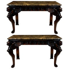 Pair of Large Classical Revival Console Tables