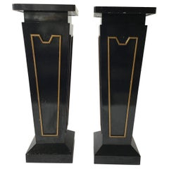 Pair of Large Classical Wood Pedestals