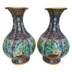 Pair of Large Cloisonné Vases