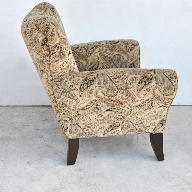 Pair of Large Contemporary Wing Back Chairs For Sale 1