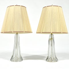 Pair of Large Crystal Table Lamps