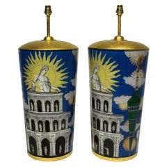 Pair of Large Declamania Lamps