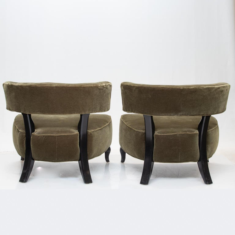 Art Deco Pair of Large Deco Chairs For Sale