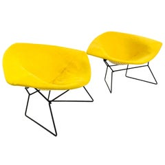 Pair of Large Diamond Chairs by Harry Bertoia for Knoll