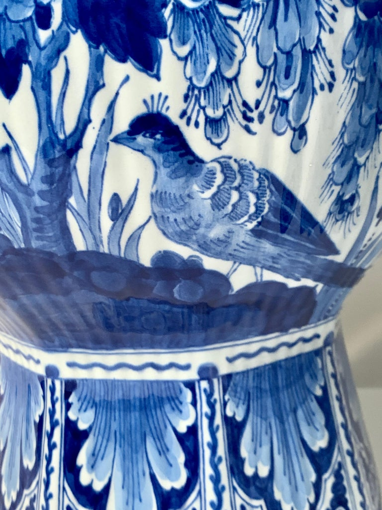 Pair of Large Dutch Delft Blue and White Jars In Excellent Condition For Sale In Katonah, NY