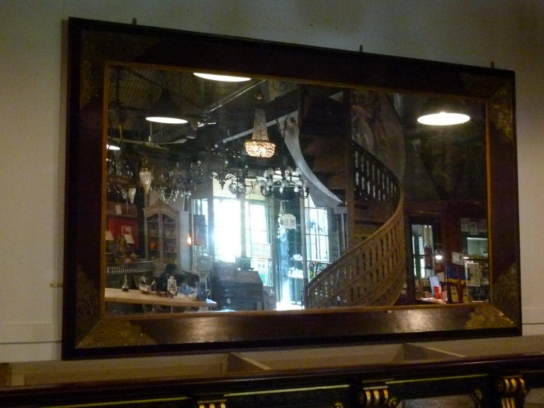 Spanish Pair of Large Early 20th Century Wall Mirrors For Sale