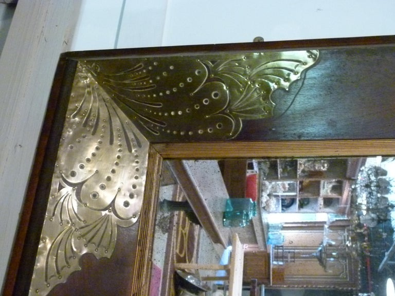 Pair of Large Early 20th Century Wall Mirrors In Good Condition For Sale In Vulpellac, Girona