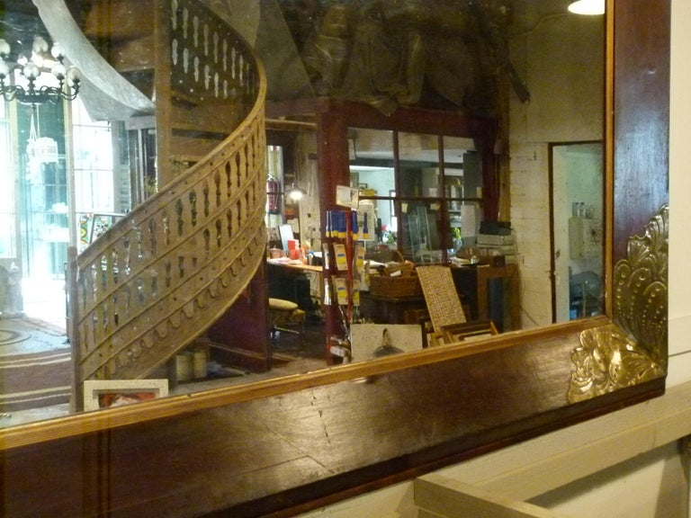 Pair of Large Early 20th Century Wall Mirrors For Sale 2
