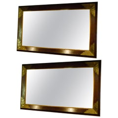 Pair of Large Early 20th Century Wall Mirrors