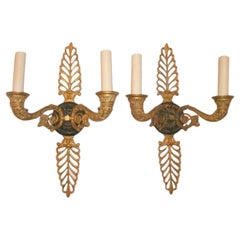 Pair of Large Empire Sconces