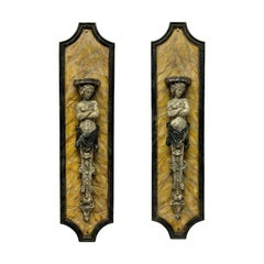 Pair of Large Faux Marble Wall Brackets