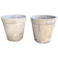 Pair of Large Flower Pot Form Planters Designed by Willy Guhl, Dated 1960