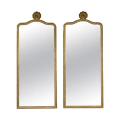 Pair of Large French Regence Style Mirrors with Scallop Shell Cartouche