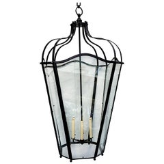 Pair of Large French Wrought Iron Lanterns, Sold Individually
