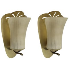 Pair of Large German Midcentury Wall Lights Sconces, 1950s
