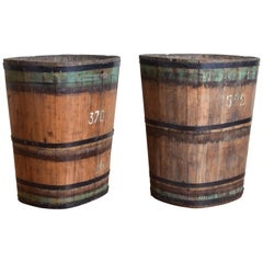 Pair of Large German Vineyard Buckets, Westhalten, 1st quarter 20th century